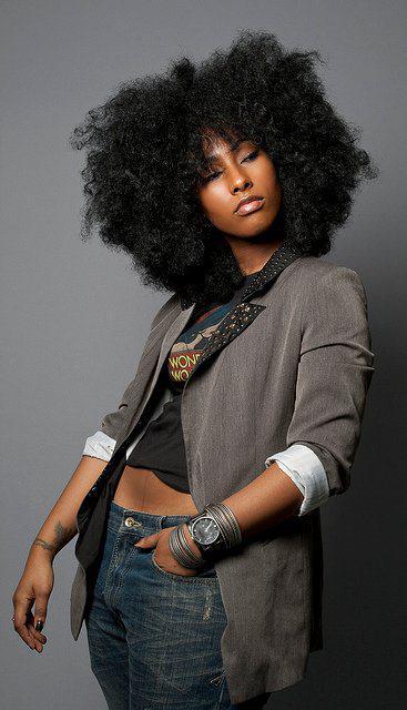 black girl afro
